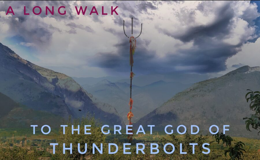 A long day's walk to the Great God of Thunderbolts.